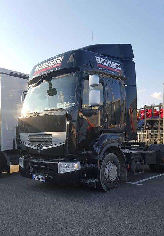 camion poids lourd vinson adhésif montélimar