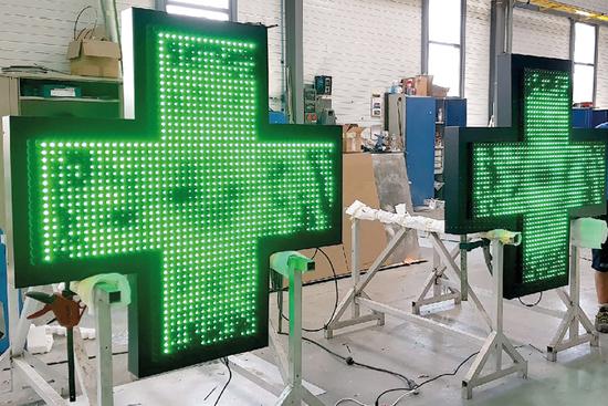 croix pharmacie lumineuse fabrication Montélimar