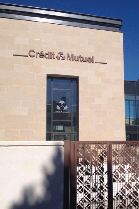 Enseigne Valence Crédit mutuel - Bâtiment