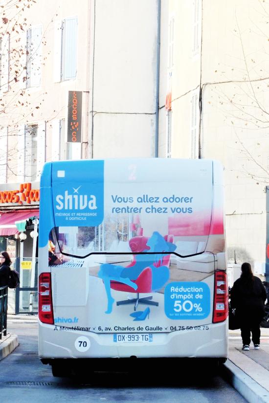 publicité réseau arrière bus montélimar