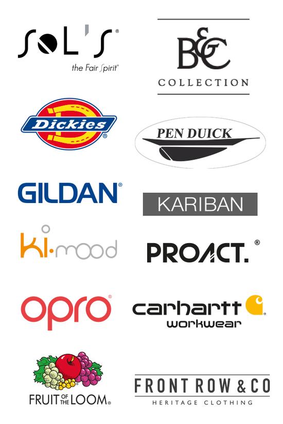 textile personnalisé montélimar logo des marques